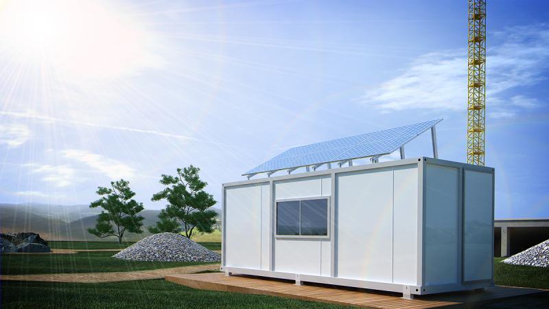Фотоволтаична система за строителен контейнер 12/24 V DC  1