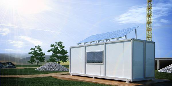 Photovoltaic system for construction container