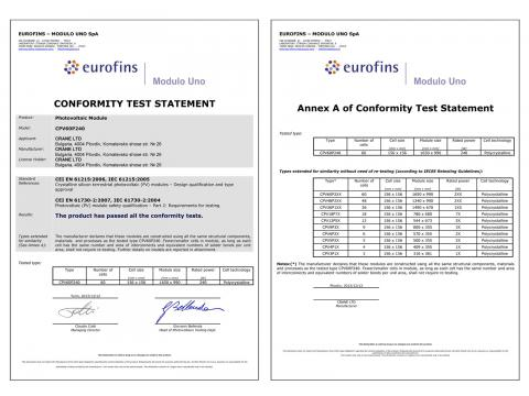 CONFORMITY TEST STATEMENT - CRANE - poly